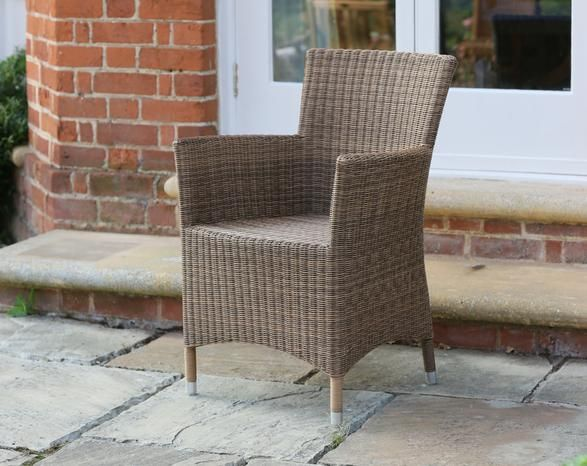 Barcelona Armchair Natural Wicker Garden Furniture Jo Alexander