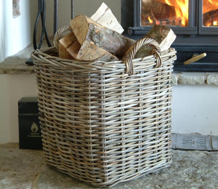 Square Log baskets