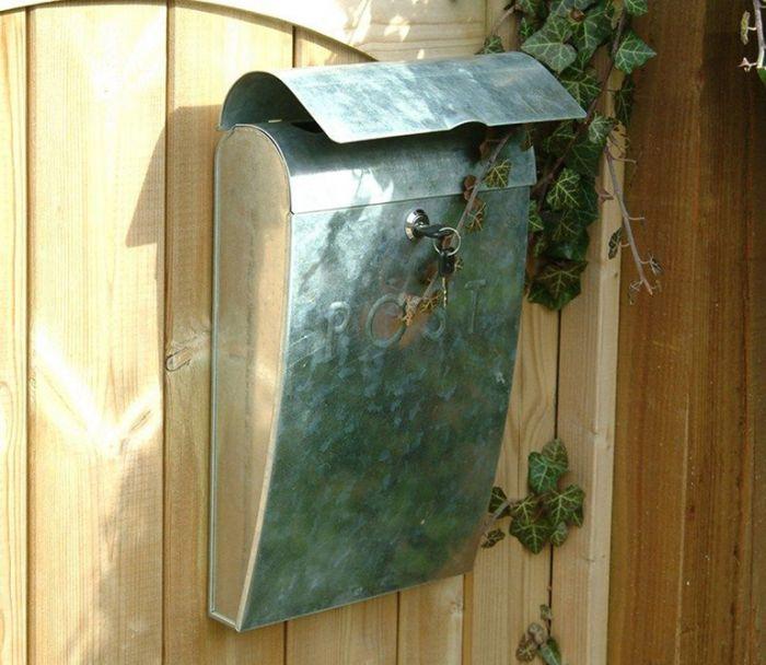 Galvanised Post Box