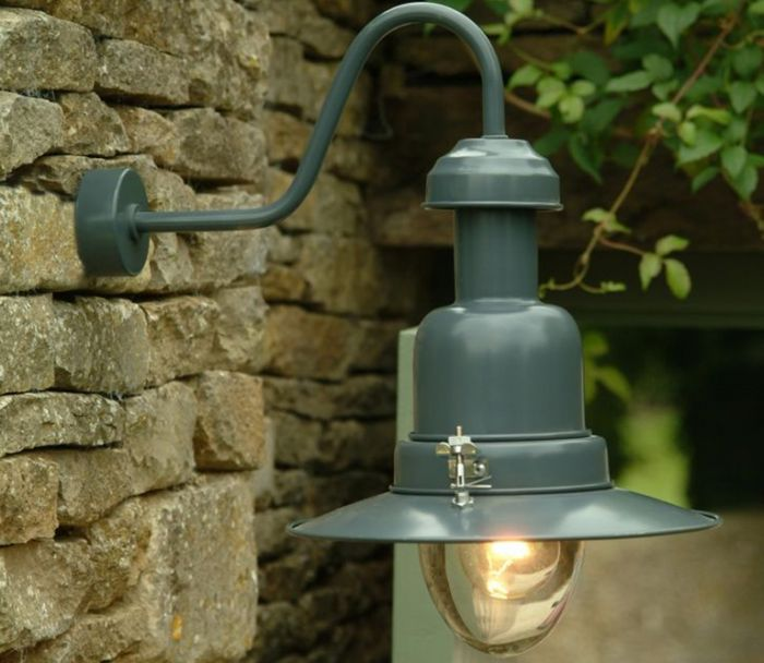 Wall Mounted Fishing Lamp (Slate)