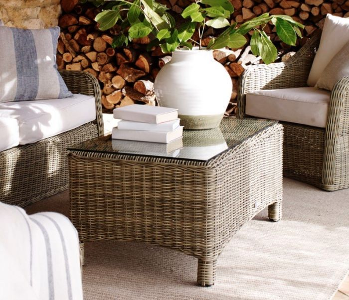 Neptune Coffee Table With Storage Ottomans: Neptune Pesaro Coffee Table