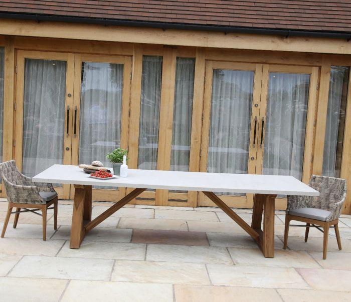 Turin Resin Concrete Table 300cm