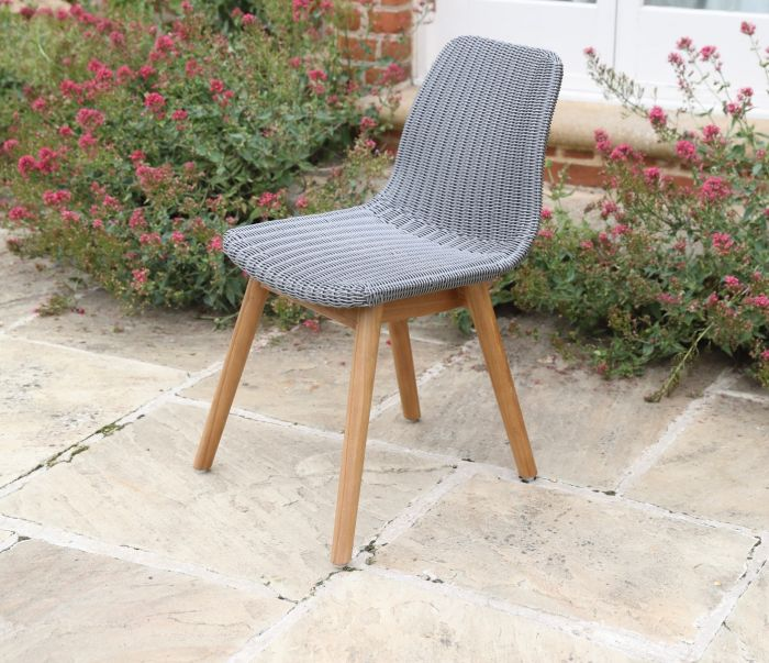 Clover Wicker Dining Chair - Mercury
