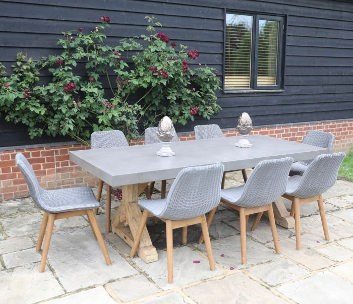 Castra Concrete Dining Table - 300cm