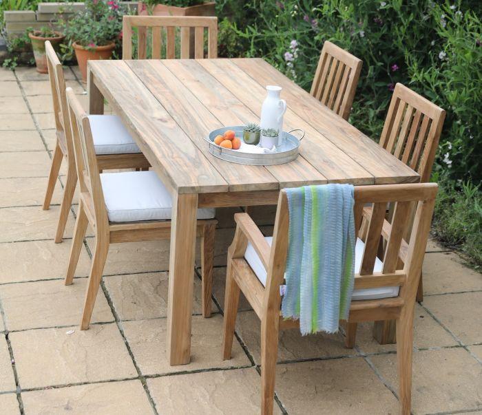 Tuscan Reclaimed Teak Rectangle Table 200cm