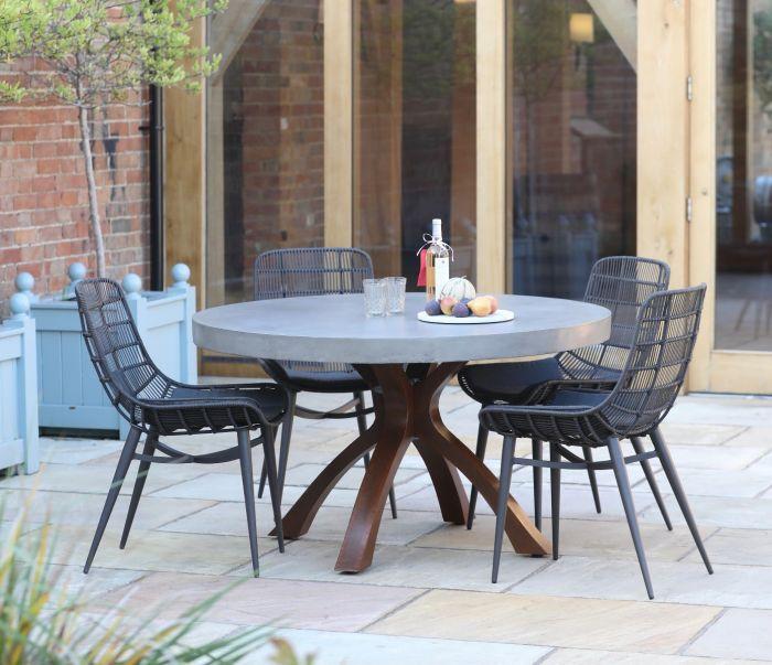Mira Round Polished Concrete Table 135cm