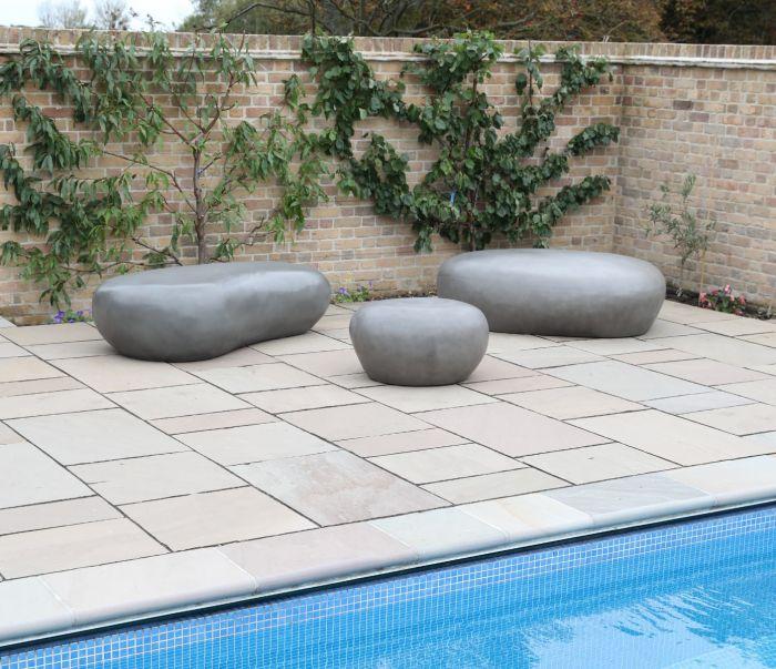 Sculptured Concrete Pebbles (Three sizes)