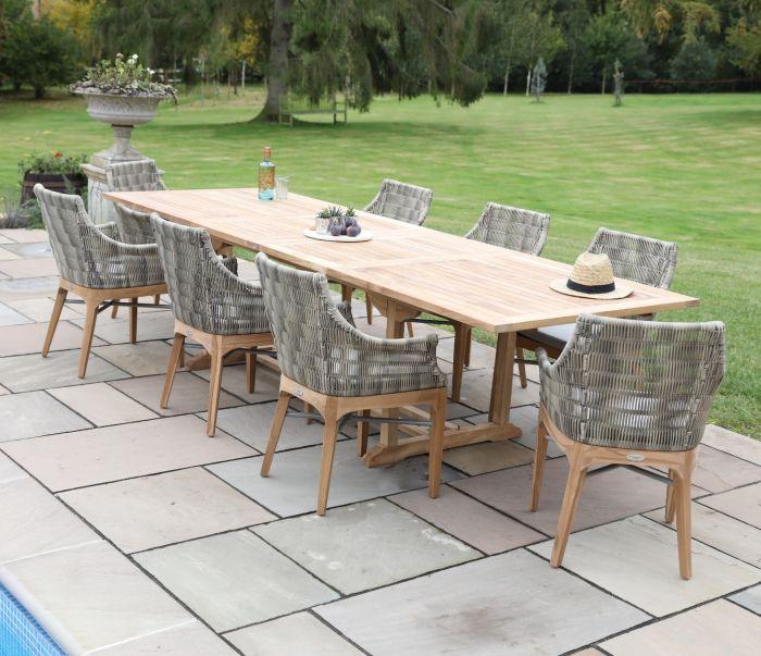 Rectangle Double Extending Garden Table 300cm