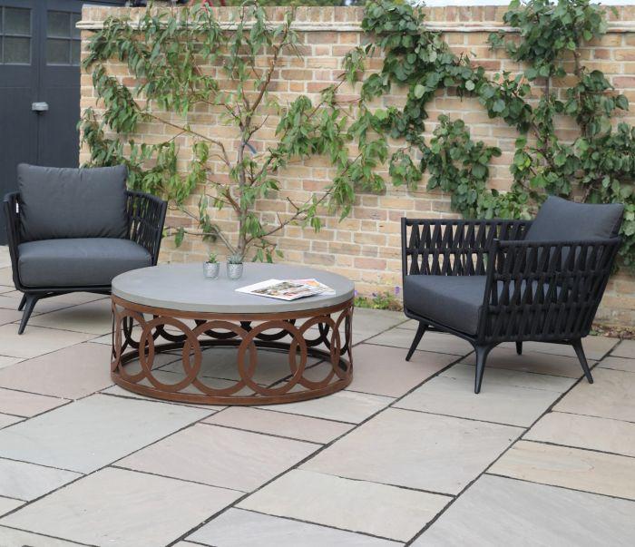 Isla Polished Concrete & Steel Coffee Table