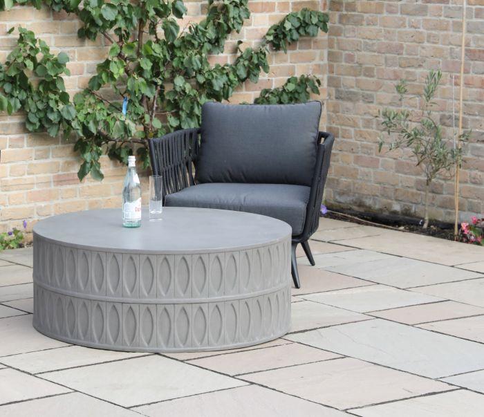 Amara Polished Concrete Round Coffee Table