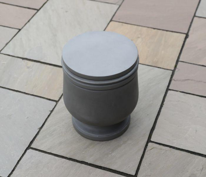Freya Polished Concrete Stool