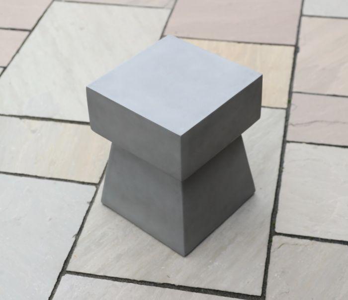 Iona Polished Concrete Stool