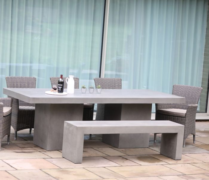 Antibes Polished Concrete Bench 160cm