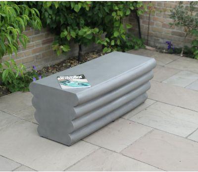 Mila Polished Concrete Straight Bench