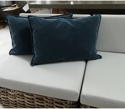 Scatter Cushion - (Rectangle) Navy Velvet