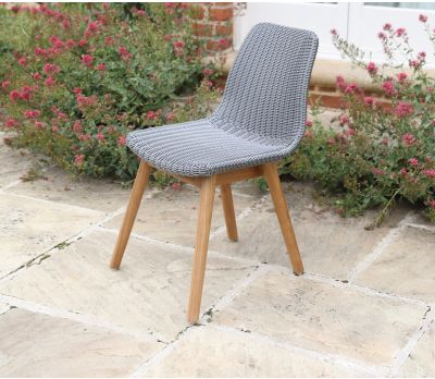 Clover Wicker Dining Chair - Mercury