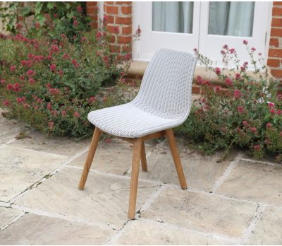 Clover Wicker Dining Chair - Light Grey