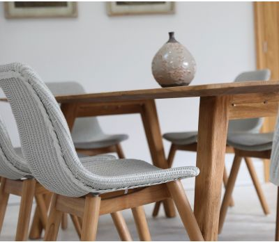 Clover Lloyd Loom Dining Chair - Seagull