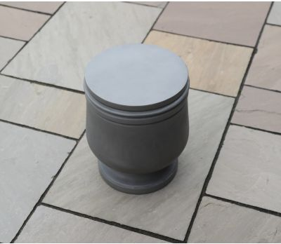 Freya Polished Concrete Stool