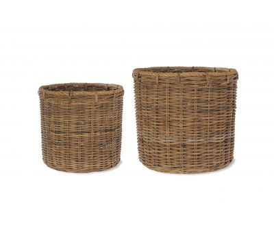 Holkham Round Log Basket with Rope