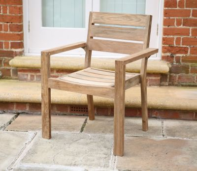 Tuscan Reclaimed Teak Stacking Armchair