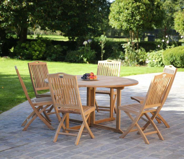Gateleg Round Folding Dining Table 150cm