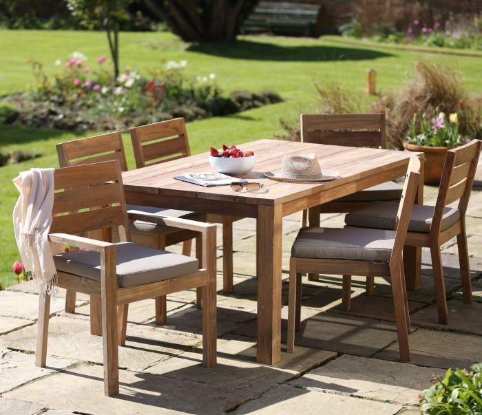 6 Seater Tuscan Teak Wood Patio Dining Set Jo Alexander
