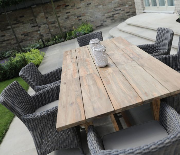 extendable outdoor dining table