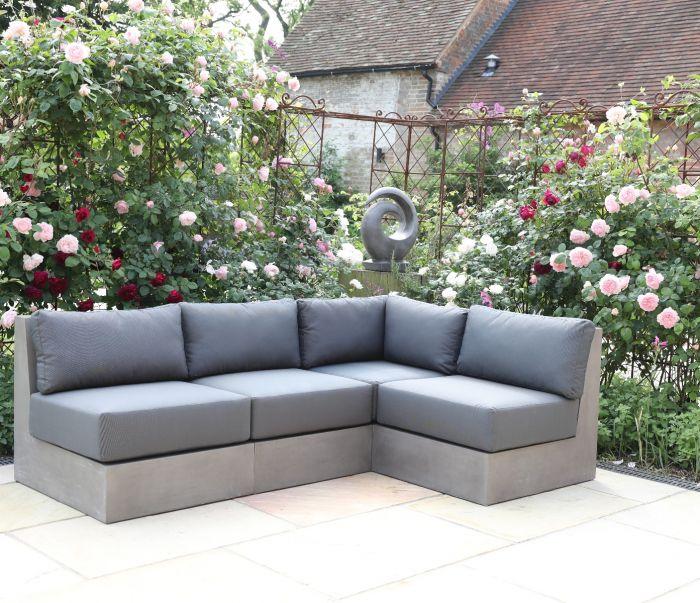 Seville Polished Modular Concrete Sofa