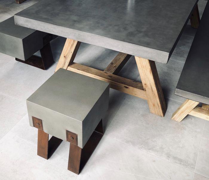Mira Polished Concrete Stool