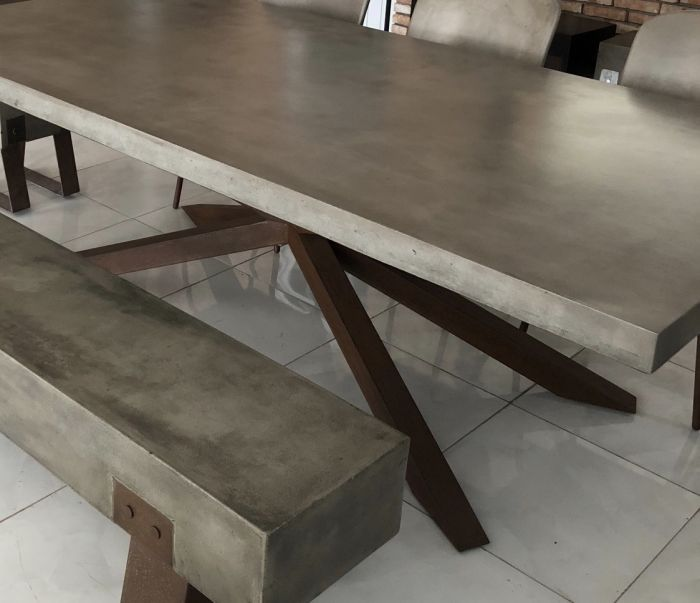 Mira Polished Concrete Table 240cm