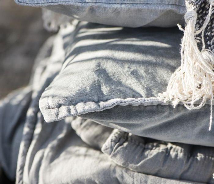 Scatter Cushion - (Square) Grey Velvet