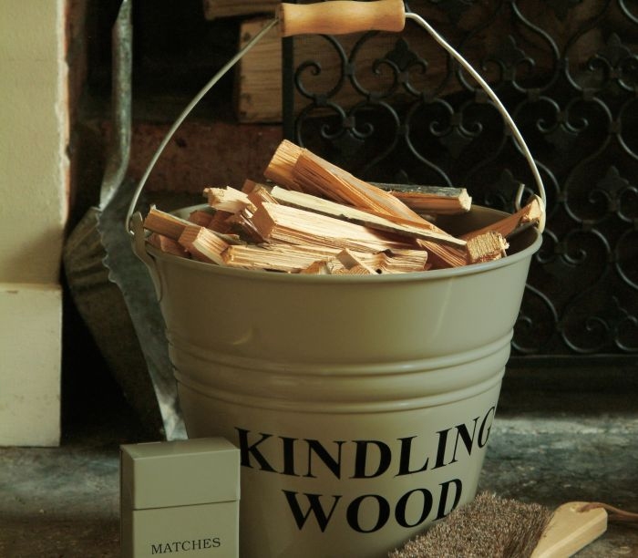 Kindling Bucket - clay