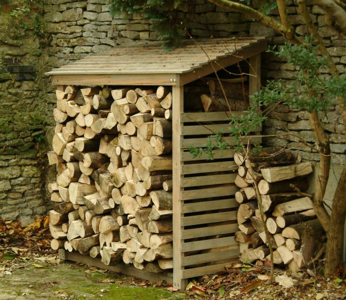 Log Store Wooden