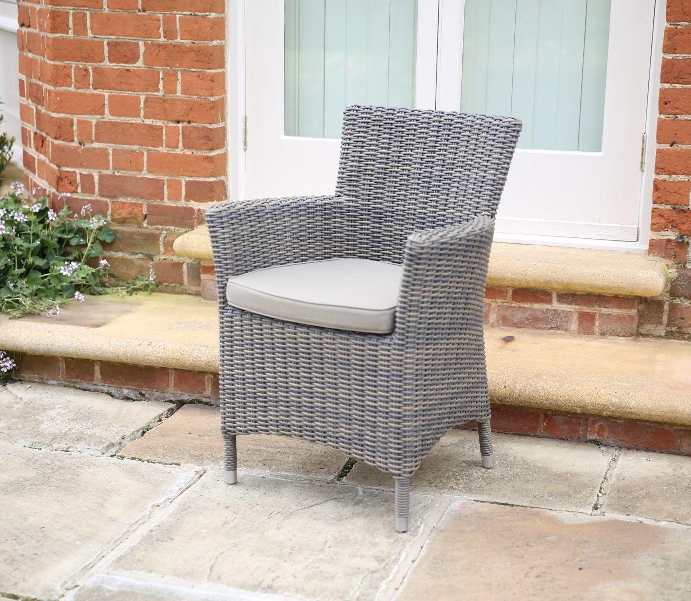 florence wicker armchair pearl grey