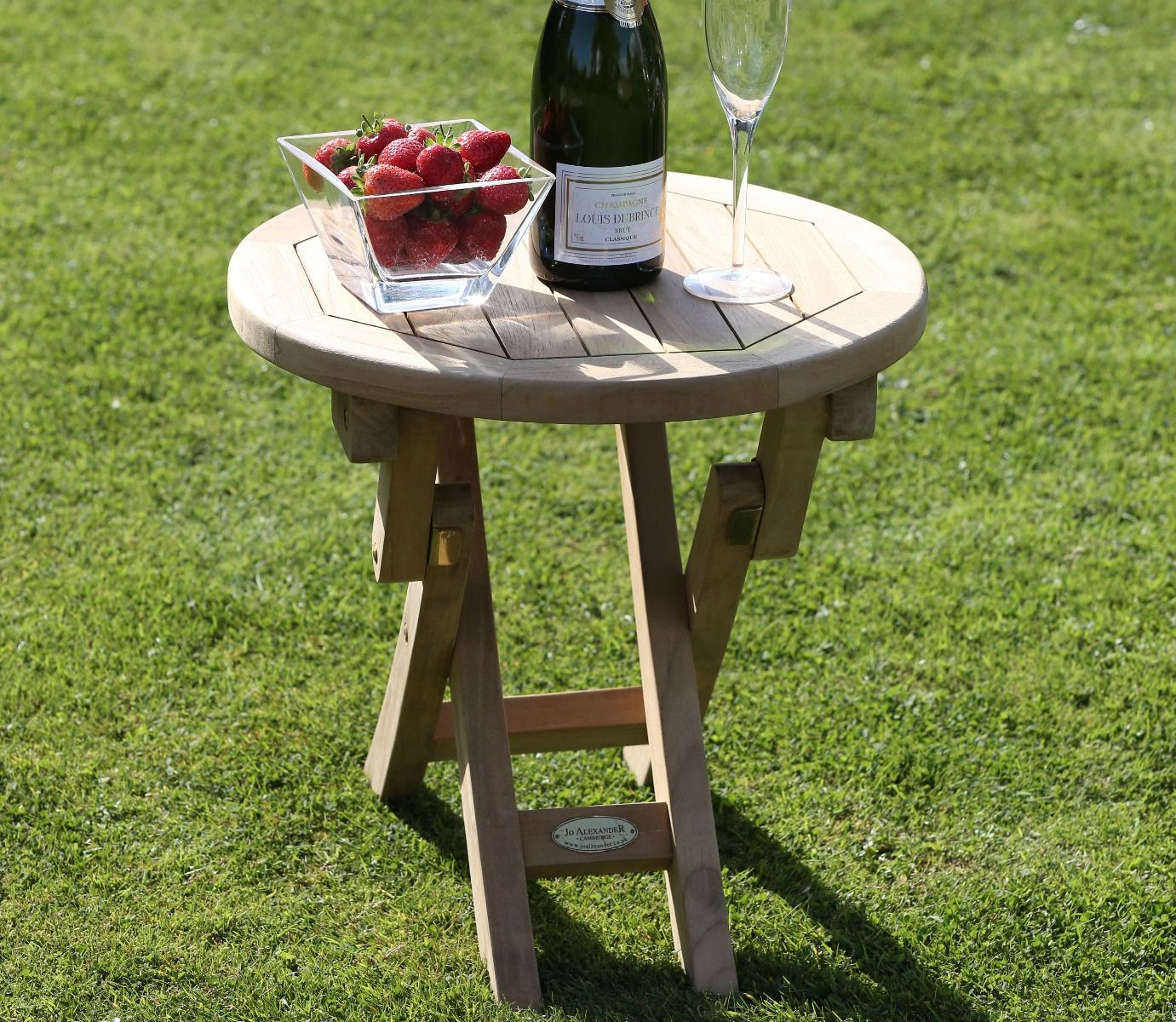 Round Folding Side Table Teak Garden Furniture Jo Alexander