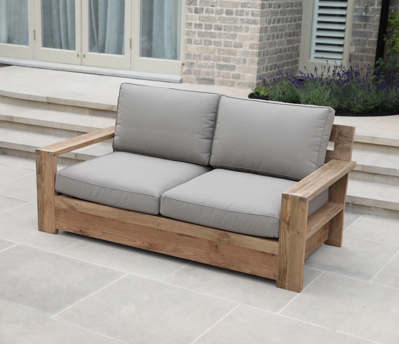 Two seater outdoor sofa