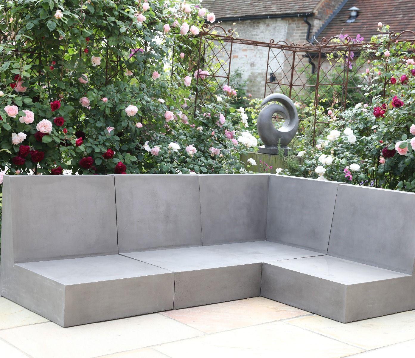 Seville Polished Concrete Sofa Jo Alexander