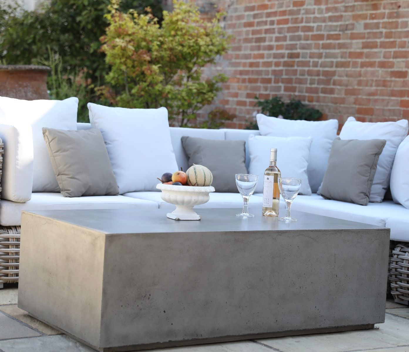 Monza Polished Concrete Coffee Table