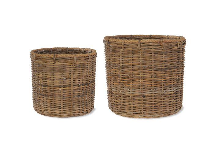Holkham Round Log Basket with Rope