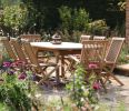 Oval Extending Garden Table 8-Seater Set (Sussex)