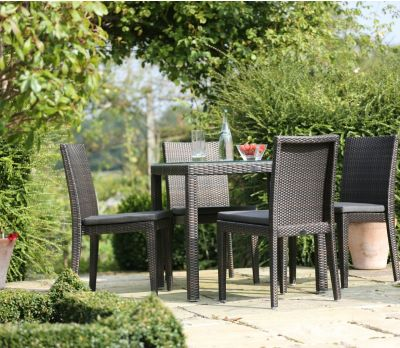 Alexandra Wicker Four Seater Table Set