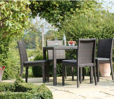 Alexandra Wicker Four Seater Table Set