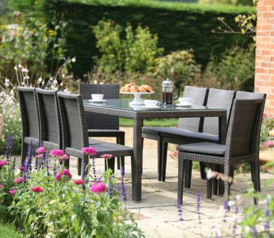 Alexandra Wicker 8-Seater Table Set