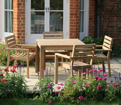 Tuscan Teak Square 4-Seater Table Set