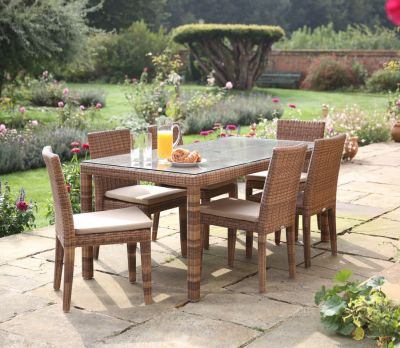 Evelyn Wicker 8-Seater Table Set
