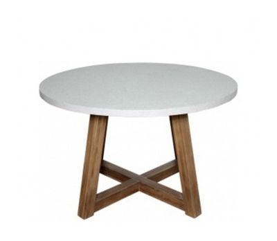 Turin Resin Concrete Round Table 120 cm