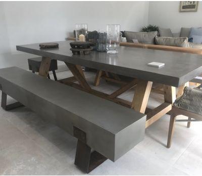 Mira Polished Concrete Bench 220cm