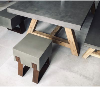 Mira Polished Concrete Stool