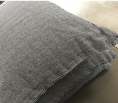 Scatter Cushion - (Rectangle) Grey/blue Linen